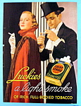 1936 Lucky Strike Cigarettes with Woman & Man Smoking