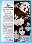 Vintage Ad: 1933 Max Factor w/ Joan Crawford