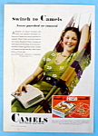 1932 Camel Cigarettes w/Woman Laying on Hammock