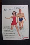 1941 Jantzen Bathing Suits w/Man & Woman By A. Varga