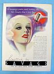 Vintage Ad: 1935 Savage Lipstick