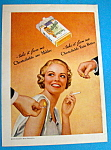 1935 Chesterfield Cigarettes with Woman & Two Men
