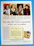 1936 Camel Cigarettes with 4 Women Who Smoke