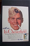 1941 Chesterfield Cigarettes with Soldier's Face