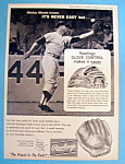 1964 Rawlings Baseball Glove with Mickey Mantle