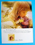 1964 Northern Tissue with Little Girl Smelling Flowers