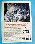 Click here to enlarge image and see more about item 14994: Vintage Ad: 1964 4-Paw Dog Food
