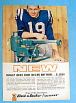 1964 DeWalt Radial Arm Saw w/ Football's Johnny Unitas