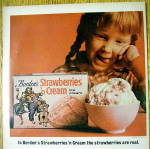 Click to view larger image of 1964 Borden's Strawberries & Cream Ice Cream with Girl (Image2)