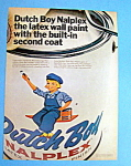1967 Dutch Boy Nalplex Wall Paint with Can of Paint