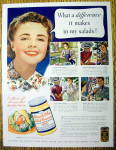 1939 Miracle Whip Salad Dressing with a Woman