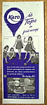 Click to view larger image of Vintage Ad: 1939 Karo Syrup w/ Dionne Quintuplets (Image1)