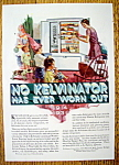Click to view larger image of Vintage Ad: 1931 Kelvinator Refrigerator (Image1)