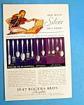1931 1847 Rogers Bros. Silverplate w/Woman & Silverware