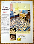 Click to view larger image of Vintage Ad: 1932 Congoleum Gold Seal Rug (Image1)