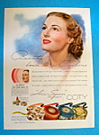 Vintage Ad: 1940 Coty Air Spun Face Powder