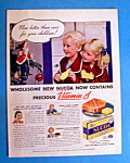 1937 Nucoa Margarine with 2 Children Eating Bread