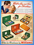 Click to view larger image of Vintage Ad: 1937 Williams Shaving Holiday Packages (Image1)