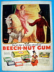 Click here to enlarge image and see more about item 15139: 1937 Beech Nut Gum w/Ringling Bros By Frederic Stanley