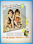 1937 Del Monte Pineapple Juice with 2 Little Girls