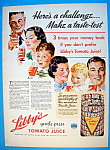 Vintage Ad: 1937 Libby's Gentle Press Tomato Juice