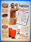 Vintage Ad: 1937 Libby's Tomato Juice w/Gene Sarazen