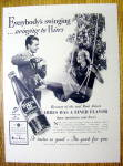 1937 Hires Root Beer with Woman Swinging on Swing
