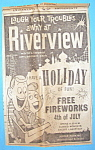 Click here to enlarge image and see more about item 15198: 1961 Riverview Amusement Park w/Man & Woman on Coaster