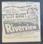 Click here to enlarge image and see more about item 15199: 1958 Riverview Amusement Park with Roller Coaster