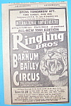 Click here to enlarge image and see more about item 15204: Vintage Ad: 1961 Ringling Bros & Barnum & Bailey