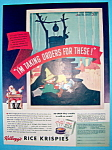 Click to view larger image of Vintage Ad: 1938 Kellogg's Rice Krispies (Image1)