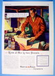 Click to view larger image of 1938 Martini & Rossi Vermouth with Man Wrapping Bottle (Image1)