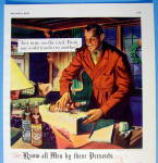 Click to view larger image of 1938 Martini & Rossi Vermouth with Man Wrapping Bottle (Image2)
