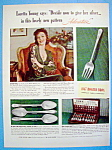 Vintage Ad: 1939 1847 Rogers Bros w/Loretta Young