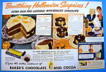 Click to view larger image of 1937 Baker's Chocolate with Enchanted Chocolate Cake  (Image1)