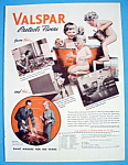 1937 Valspar with 3 Children Playing In A Tub Of Water