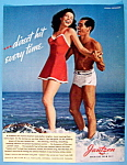 1942 Jantzen Swimsuits with Man & Woman in Suits