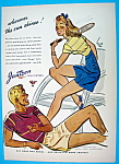 1944 Jantzen Sun Clothes with Couple in Shorts & Shirts