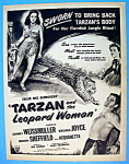 Vintage Ad: 1946 Tarzan & The Leopard Woman