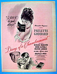 Vintage Ad: 1946 Diary Of A Chambermaid