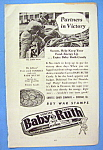 Click here to enlarge image and see more about item 15317: Vintage Ad: 1942 Baby Ruth Candy Bar