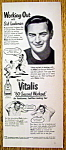 Vintage Ad: 1948 Vitalis with Sid Luckman