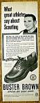 Click here to enlarge image and see more about item 15343: Vintage Ad: 1951 Buster Brown Shoes w/Sid Abel