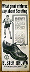 Click here to enlarge image and see more about item 15344: Vintage Ad: 1951 Buster Brown Shoes w/Steve Belloise