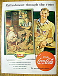 Click to view larger image of Vintage Ad: 1951 Coca Cola With The Village Blacksmith (Image1)