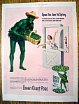 Vintage Ad: 1953 Green Giant Peas With The Green Giant
