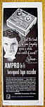 Click to view larger image of Vintage Ad: 1954 Ampro Hi-Fi Tape Recorder w/ Liberace (Image1)
