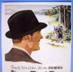 Click to view larger image of 1954 Dobbs Black Forest Hats with Man Watching Couple (Image2)