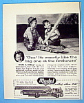 Vintage Ad: 1950 Model Fire Engine Toy