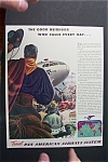Click here to enlarge image and see more about item 1537: Vintage Ad: 1941  Pan  American  Airlines
